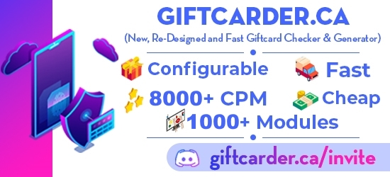 GiftCarder CA | Modulable GiftCard Generator & Checker | 1000+